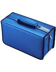 alavisxf xx Estuche para CD, Estuche de Almacenamiento de CD de Gran Capacidad de Nailon de 160 capacidades, Soporte para Billetera de Disco portátil para Viajes en automóvil(Azul)