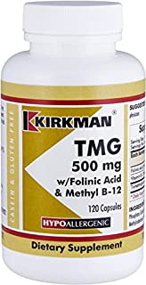 TMG (Trimethylglycine) 500 mg w/Folinic Acid & B12 Capsules - Hypo 120 capsules