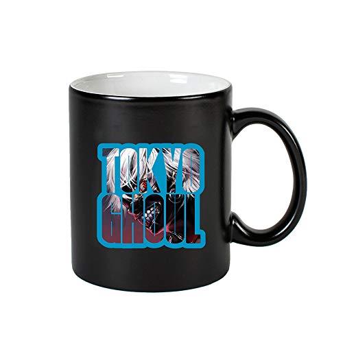 Tjhhkjuo Tokyo Ghoul Taza for Mujeres y Hombres Taza de Agua Animado Legal de café con la manija Taza del Profesor Taza Regalo (Color : Black06, Size : 9.5 X 8cm)