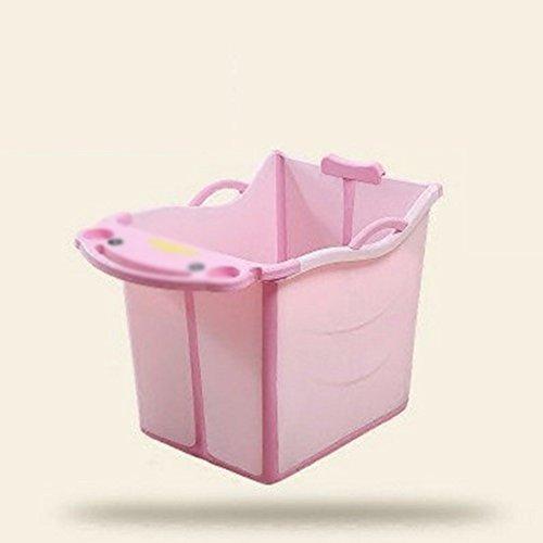 XXCCL Baignoire Pliante Verrouiller La Température Enfant Ergonomie Amovible Piscine/Barrel, Épaissir Isolation Antidérapant, Pliant Verticale Baril De Bain Colle Douce,Pink