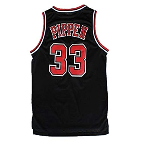 FILWS Herren Chicago Bulls # 33 Jersey-Scottie Pippen Basketball Trikot Ärmellose Retro Basketball Weste Shirt Basketballanzug Für Herren (S-XXL)