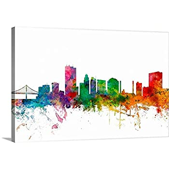 Toledo Ohio Skyline Canvas Wall Art Print Ohio Artwork