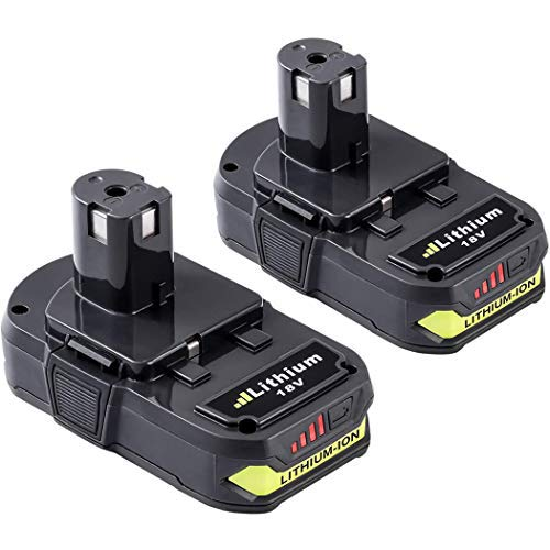 2Pack 2.5Ah P102 18V Lithium Replacement Battery for Ryobi 18Volt P100 P103 P104 P105 P107 P108 P109 P190 for 18V Batteries