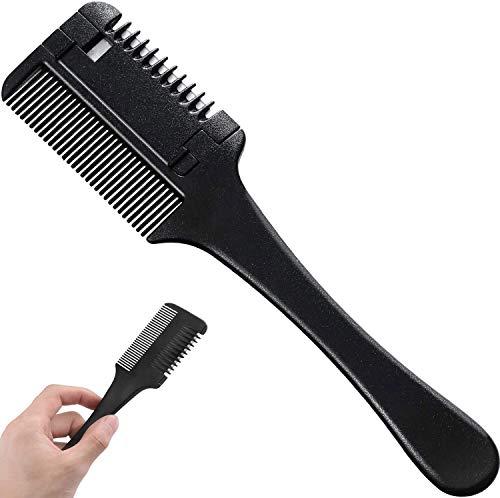 Hair Razor Comb Double Side Cutting Scissors Plastic Razor Comb Hair...