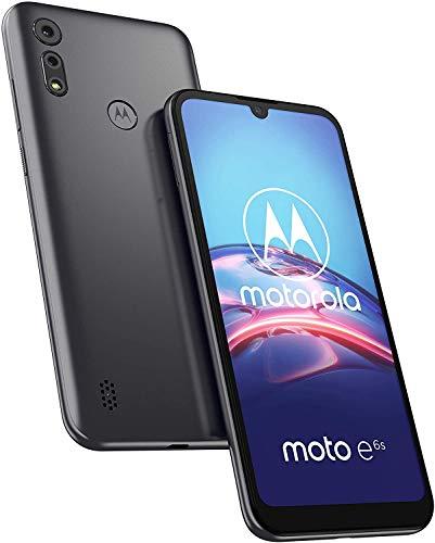 """Motorola Moto E6S, Display MaxVision 6,1"""", Processore Octa-Core, Doppia Fotocamera 13 MP, Batteria 3000 mAH, Dual SIM, 2/32GB, Android 9, Cover Inclusa, Meteor Grey"""