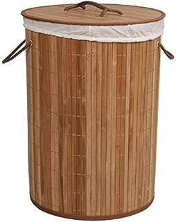 Cesto de Bambu Ripado Acasa Móveis Carbonizado