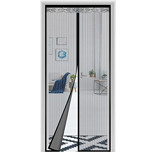 Magnetic Screen Door 36 x 82 Inch, BITIANTEAM Tight Self Closing Magnetic Seal, Hands Free, Heavy Duty,Keeps Mosquitoes Out, Pet & Kid Friendly Door Mesh Curtain