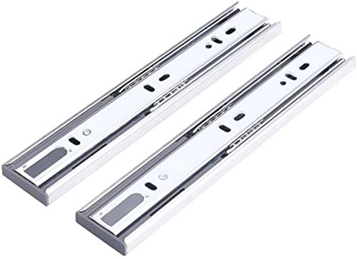 X2 Push-in cajón de diapositivas, cojinete de bola de 3 veces la extensión completa de rebote ferrocarril de diapositivas, amortiguación de búfer de diseño, 10in-20in