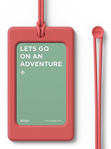 elago LUGGAGE TAG ネームタグ スーツケース 旅行カバン ゴルフバッグ 用 シリコン 製 ラゲージタグ ネームプレート イタリアンローズ