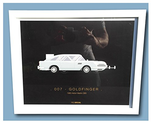 emblématique Movie Transport encadrée Impressions – 007 1963 Aston Martin DB5