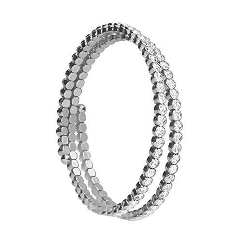 Stroili - Bracciale Bangle In Metallo Rodiato E Cristalli Per Donna