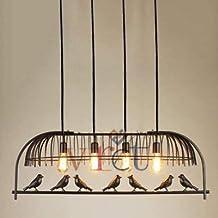 VRCT Vintage Bird Chandelier Retro Industrial Wrought Metal Iron Pendant Hanging Lights Restaurant Living Room Home Villa Decorative Ceiling Lamps