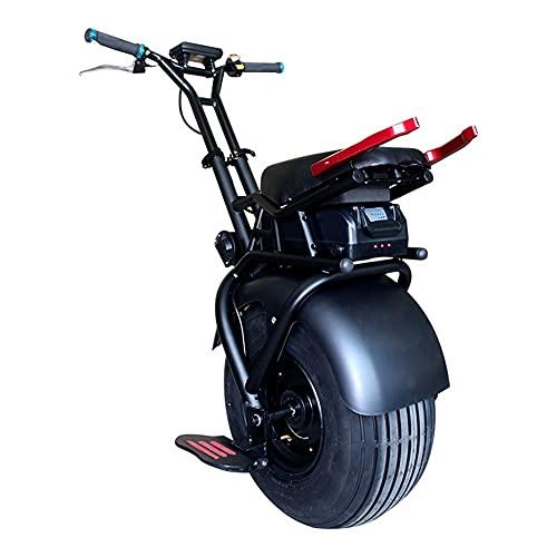 GUHUIHE Scooter Elettrico del bilancio Intelligente del Monociclo Elettrico da 18 Pollici Scooter Elettrico Adulto con...