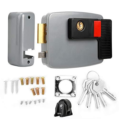 Dekaim Cerradura de Huelga eléctrica, DC12V Cerradura de Puerta magnética de Control...