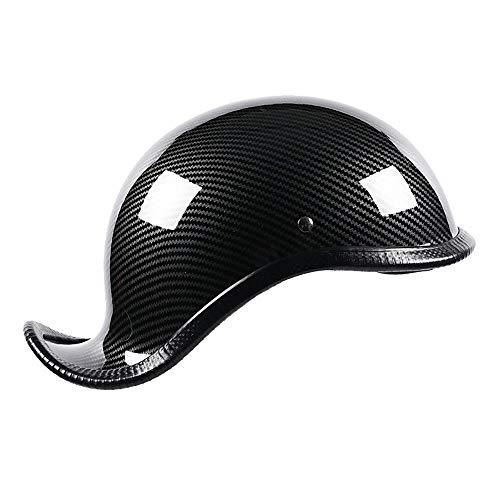 Halbschale Motorradhelm,Brain-Cap · Jet-Helm Offenes Motorrad-Helm Roller-Helm Scooter-Helm Mofa-Helm für Bobber Chopper Crash Cruiser Pilot Biker Racing mit Visier ( Color : B , Size : L=(58~59CM) )