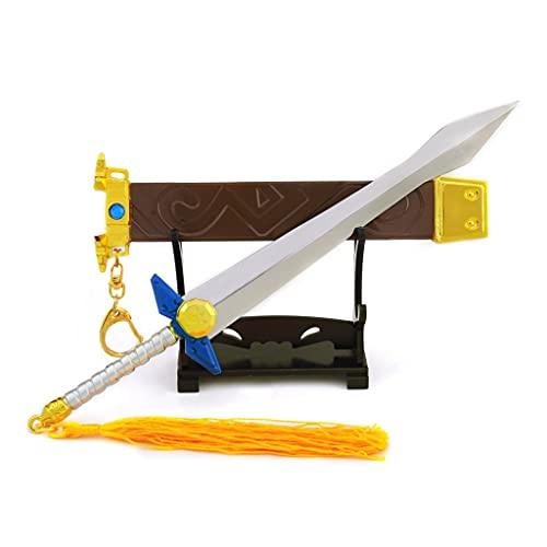 1/5 Escala Mini Maestro Espada Modelo Militar Arma Metal Juego De Cosplay Llavero Espada De Juguete Modelo Desmontable (21cm Ancient Sword)