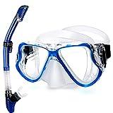 CHSDN Juego de Snorkel, máscara de Snorkel con Parte Superior Seca,...
