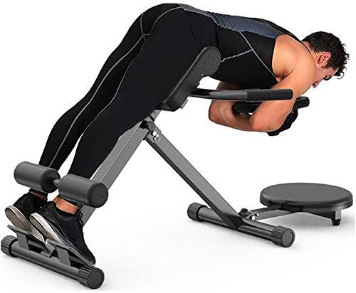 Silla romana de fitness, banco de hiperextensión plegable, equipo de entrenamiento de fuerza Ab Core Trainer, máquina de respaldo de banco de extensión