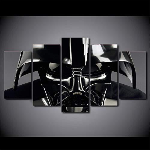 Leinwand Wandkunst, 5 Verkleidungs-Star War Darth Vader Helm-Plakat Ölgemälde-Wand Kunstdruck Deko Bilderkunstwerk Leinwand-Malerei WWJYB0291 (Size (Inch) : 40x60 40x80 40x100cm)