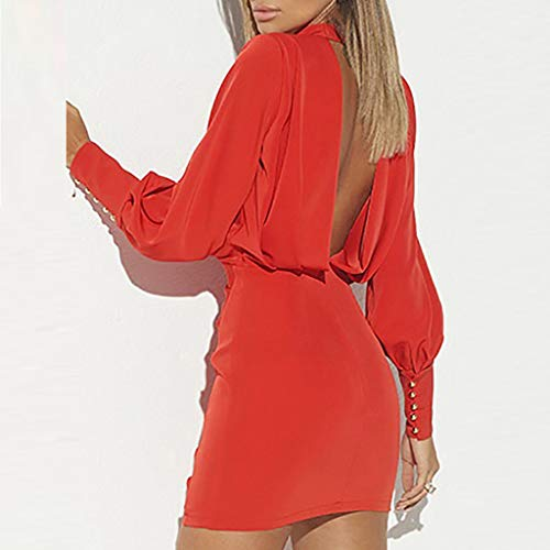Vectry Vestidos Coctel Vestidos Casuales Sueltos para Mujer Vestidos Elegantes para Niña Moda Mujer 2019 Rebajas Vestidos Vestidos Cortos Verano 2019 Vestidos para Playa Mujer Vestidos Rojo