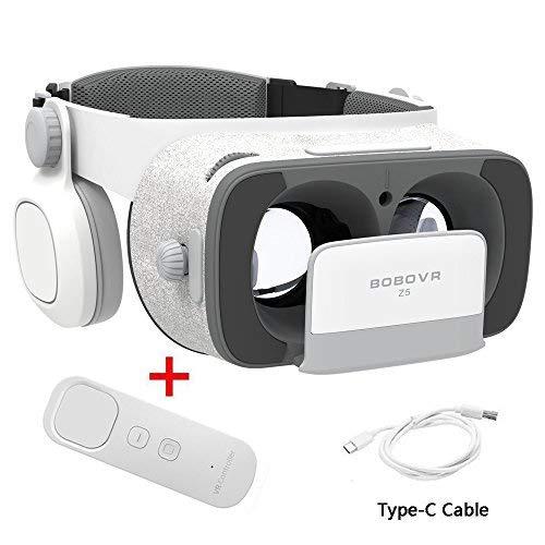 BOBOVR Z5 Pro 3D VR Gafas Realidad Virtual con Auriculares Headset Gafas para Ver 3D Películas / Juegos Compatible Daydream Gamepad FOV120 IPD Focus