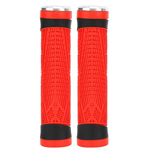 Stable Silicone Handlebar Grip ZTTO Universal Silicone Bike Handlebar Grip,for Mountain Bike,for Cycling(red)
