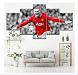 JIANGGE Berühmte Fußball-Star Wayne Rooney, Leinwand