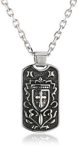 POLICE - Catenina con pendente da uomo, acciaio inossidabile, cod. PJ25149PSS-01