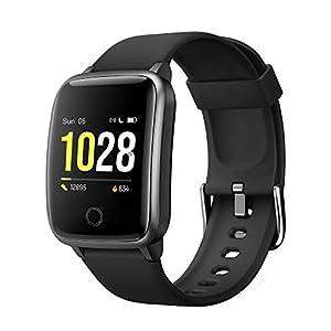GRDE Smartwatch, Reloj Inteligente Impermeable IP68 con Monitor Sueño Pulsómetros Caloría Podómetro Operación con un… 11