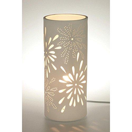 Dekorative Tischlampe aus edlem Porzellan mit elektrischer Beleuchtung Modell 30315 small incl. 7W Energiesparlampe