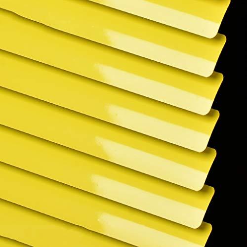 ZAQI Estor Enrollable persianas venecianas Mini persianas de Aluminio Amarillo for Ventana de habitación for niños, Parasol de Montaje Exterior con Accesorios, 60/80/100/120/140 cm de Ancho