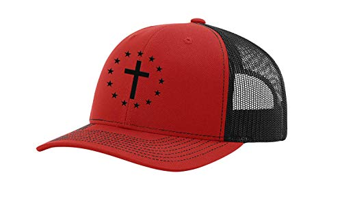 Men's Christian Cross Patriotic 13 Stars Betsy Ross American Flag...