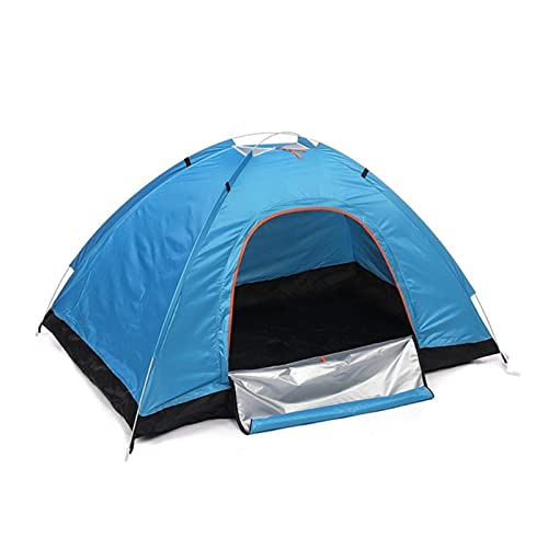 1~2 Persona Automatic Pop up Outdoor Family Camping Tienda Easy Open Camp Tents Ultralight Instant Shade Construction Portable (Color : Yellow)