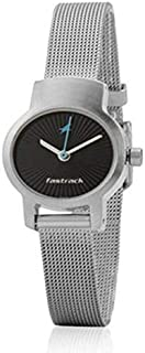 Fastrack Women's Black Dial Stainless Steel Band Watch - T2298SM03
