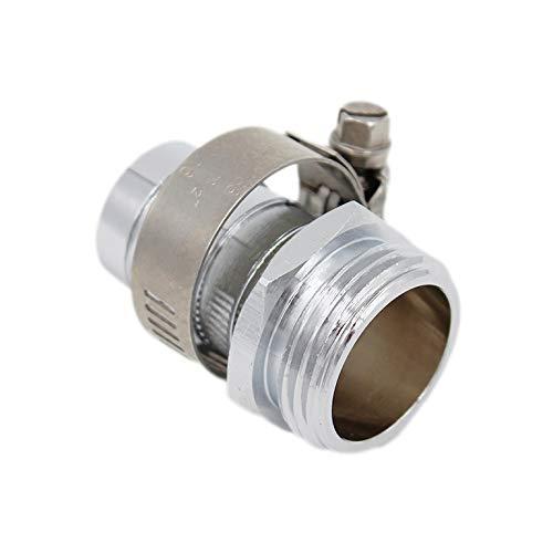 SpiceFlow Geräteanschlussstück/Wasserhahnanschluss   Chrom/Messing   3/4 Zoll Außengewinde   3/4 Zoll Schlauchanschluss mit Schlauchschellen