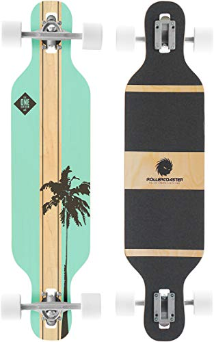 RollerCoaster Palms + Stripes The ONE Edition Drop Through Longboard, Palms