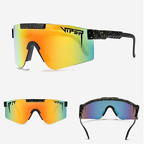 Pit Viper Polarisierte Sport Sonnenbrille für Männer Frauen Jugend Baseball Radfahren Angeln Laufen Geeignet für Party, Camping, Reisen, Einkaufen, geeignet für alle Arten von Gesichtsformen (1pc, c6)