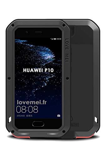 Carcasa antigolpes para Huawei P10, diseño con Texto en inglés Love Mei Francia, Color Negro