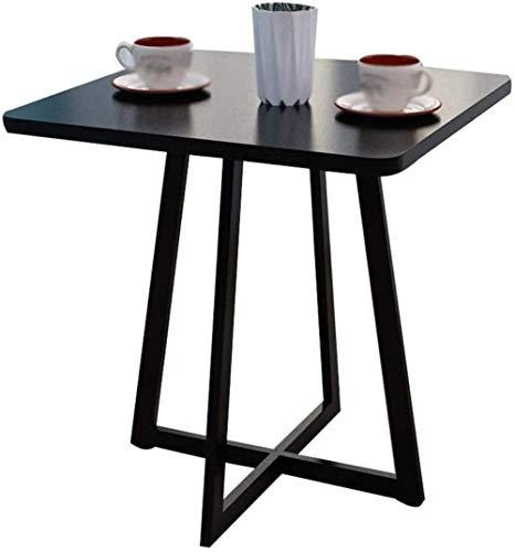 TXXM Mesa de café resistente al agua, de metal, antideslizante, duradera, para el hogar, al aire libre, para ocio, restaurante, mesa de comedor, mesa de negociación (color: A)