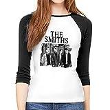 MeiShop Camisetas de Manga Tres Cuartos para Mujer Custom The Smiths Raglan T-Shirt Front Print Three Quarter Sleeve T-Shirts tee For Women