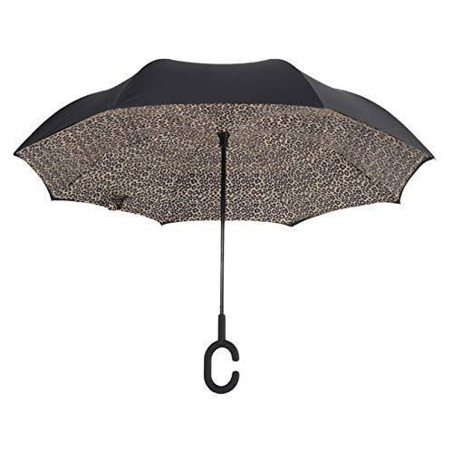 Poignée Coupe-Vent Inversé Pliant Parapluie Femelle Femme Pluie Soleil Voiture Inversée De Haute Qualité