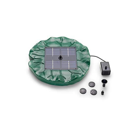 Pontec 40280 Solarfontäne PondoSolar Lily Island | Solar | schwimmendes Wasserspiel | Komplettset