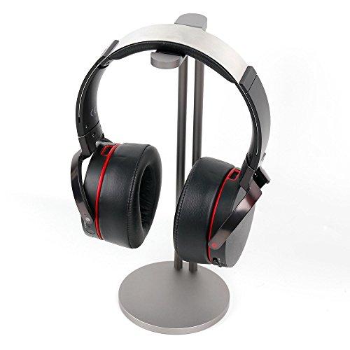 DURAGADGET Soporte de Acero Plateado para Auriculares Philips SHC5100 / SHE3590BK /1 /SHL3000 / SHS3200 / SHK2000BL