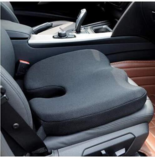 JPZCDK Back cushion Memory Foam Non-slip Cushion Adjustable Car Seat Cushions Adult Car Seat Booster Cushions,Black