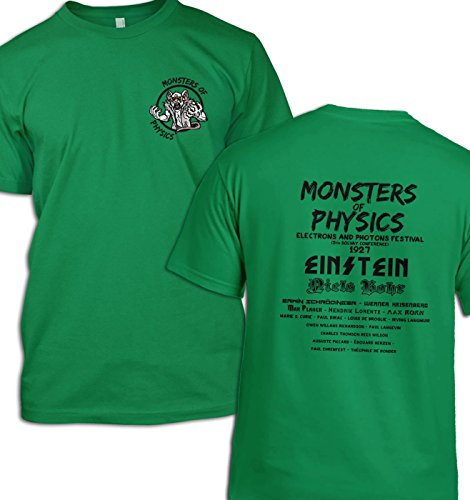 Monsters of Physics T-Shirt Gr. Small (86 cm/ 91 cm), Kelly Green