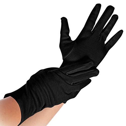 Baumwoll-Arbeitshandschu, Schutzhandschuh, Triktothandschuh, Arbeitshandschuh, Unterzieh-Handschuh, schwarz, S, M, L, XL, Größe:M - 4 Paar
