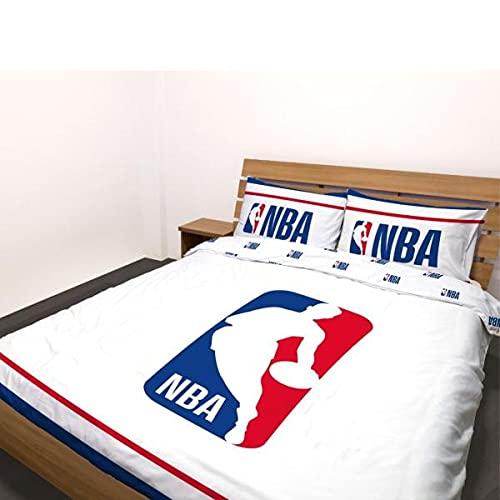 Funda nórdica de Basket NBA, color azul y blanco, 200 x 200 cm, 100% algodón, edición limitada