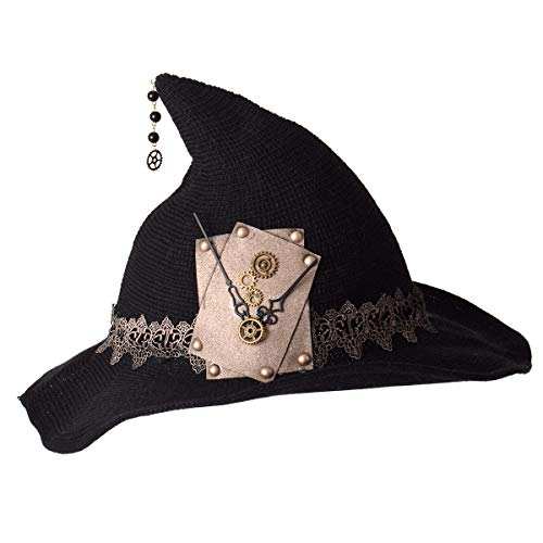 GRACEART Women's Steampunk Witch Hat with Gears (Style-01)