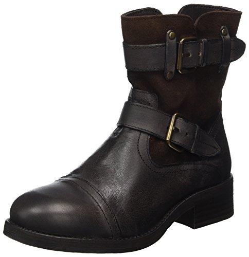 Buffalo London Damen 30933 JAMATA Suede Biker Boots, Braun (Castanho 01), 40 EU