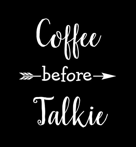 Koffie voor Talkie Grappige NOK Decal Vinyl Sticker |Cars Trucks Vans Walls Laptop|Wit|5.5 x 5.0 in|NOK490